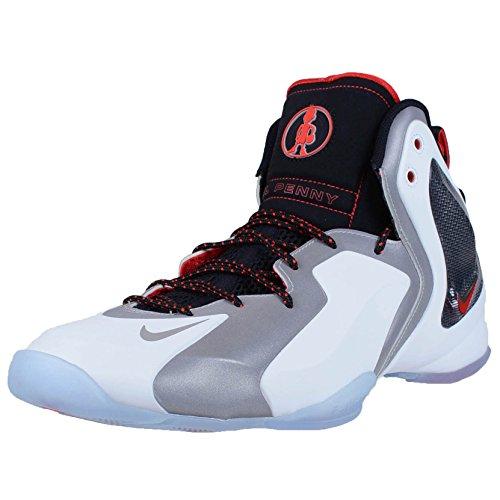Nike Men's Lil Penny Posite White/Rflct Slvr/Blk/Chllng Rd Basketball Shoe 11 Men