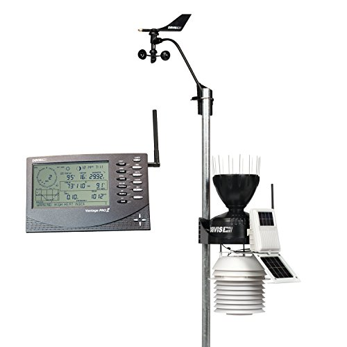 Davis Instruments 6153 Vantage Pro2 Wireless Weather Station with 24-Hour Fan Aspirated Radiation Shield and LCD Display ()