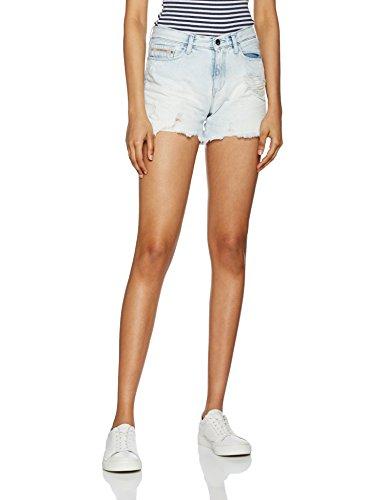 Midi Mujer Shorts vintage Off Para Calvin Short vintage Cut Splatter 913 Splatter Klein Azul 4zwqAxgt