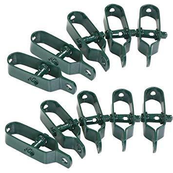 Taille 2//100 mm // 10 pi/èces, vert Gah-Alberts 611170/Lot de tendeurs de fils galvanis/é