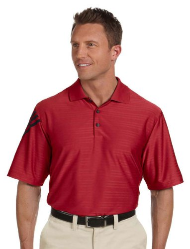 adidas Golf Mens Climacool Mesh Polo (A133) -Power RED/ -L ()