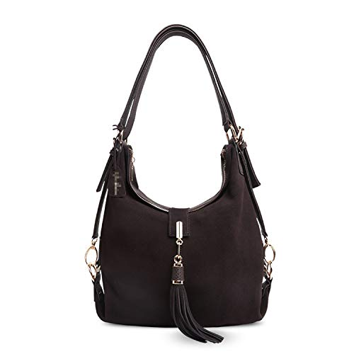 Women Leather Shoulder Bag Female Leisure Nubuck Casual Handbag Hobo Messenger Top-handle bags ()