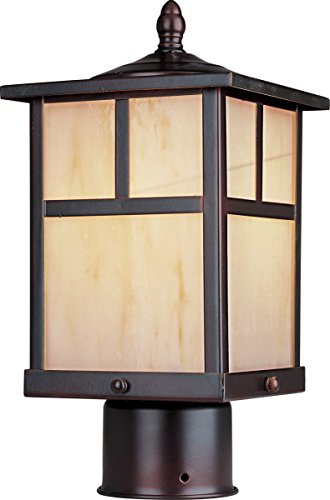 - Maxim Lighting 4055HOBU Craftsman Post Mount Light - Outdoor Capable Mount Light with Burnished Finishing. Lighting Fixtures