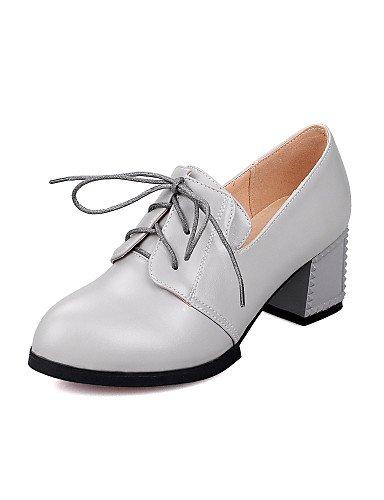 negro us8 5 Black Eu39 Zapatos Mujer tacones tacones Cn39 Uk3 Plata Gray Gris 5 tac¨®n Punta semicuero vestido Eu36 Redonda Robusto Cn35 Zq us5 Uk6 De 1PZ1Hq