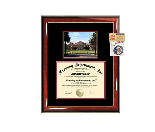 (Stanford University Diploma Frame Graduation Degree Campus Photo Certificate Plaque Double Matted Graduate Gift Document Holder Case Custom)