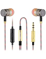 Betron YSM1000 Earphones Headphones, High Definition, in-ear, Noise Isolating, Heavy Deep Bass for iPhone, iPod, iPad, MP3 Players, Samsung Galaxy, Nokia, HTC, Nexus, BlackBerry etc (With Microphone)