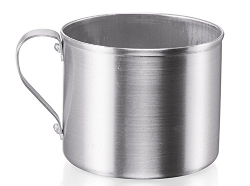 IMUSA USA R200-12W Aluminum Mug for Stovetop Use or Camping 1.25-Quart, Silver