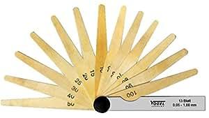 Vogel 414007 - Juego galgas espesores acero laton laminas 20