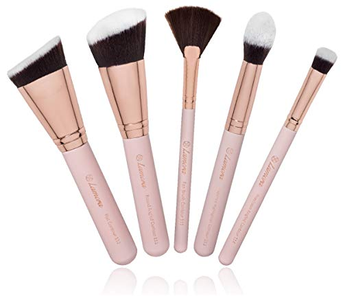 Pro Face Contour Brush Set - Synthetic Contouring Sculpting and Highlighting Kit - Cream Blush Powder Flat Nose Cheek Round Small Angled Fan Tapered Precision Kabuki Foundation Makeup ()