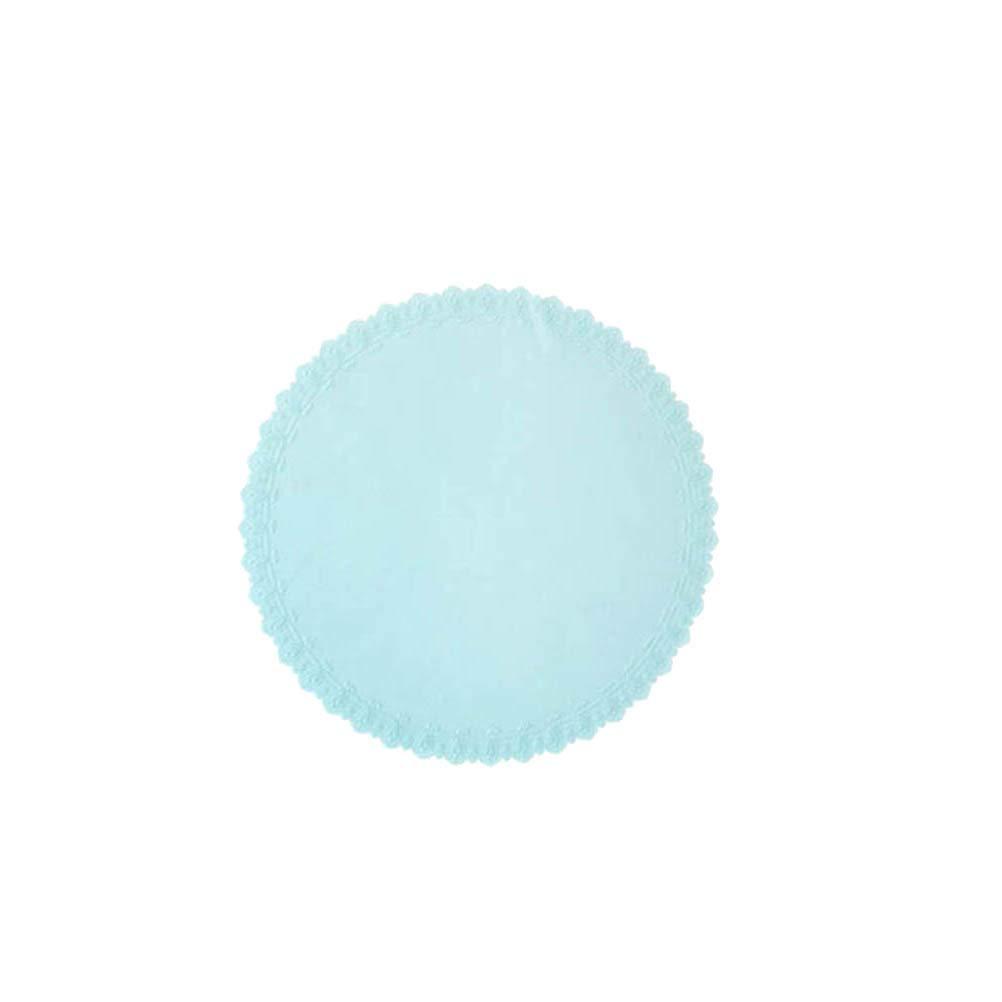 BESTONZON Silicone Bowl Covers Stretch Food Saver Wraps Enveloppes réutilisables réutilisables avec bande dessinée Embossment Flower Design (bleu)