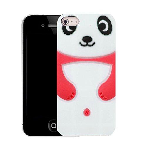 Mobile Case Mate IPhone 4 4S clip on Dur Coque couverture case cover avec Stylet - white panda Motif