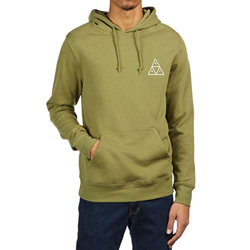 - HUF Essentials Triple Triangle Pullover Hoody Large Loden