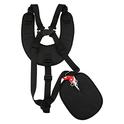 Zerodis Trimmer Shoulder Strap Mower Trimmer Harness Strap Adjustable Padded Strap with Double Durable Nylon Belts for Garden Brush Cutter Lawn Mower