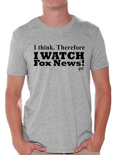 Awkward Styles I Watch Fox News T-Shirt Political Black Shirt XL Gray