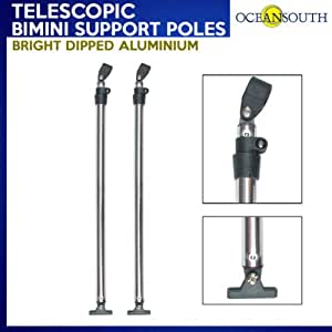 Eevelle Bimini Rear Support Poles Set of 2 with Mounting Hardware