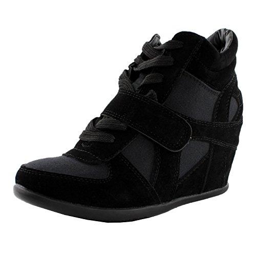Sammy Black 6 Velcro High Top Wedge Sneaker Black Sammy B00B1JEX2U Shoes 3fd9c3