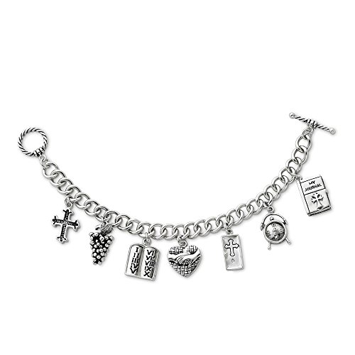- 925 Sterling Silver Answered Prayer 7.5 Inch Locket Charm Bracelet Religious W/charm Fine Jewelry Gifts For Women For Her
