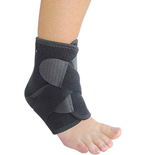 EzyFit Ankle Support Brace, Fully Adjustable Open Heel, Wrap Around Stabilizer Straps For Maximum Support - Strong Velcro with Flexible Neoprene for Greatest Comfort - 3 Sizes