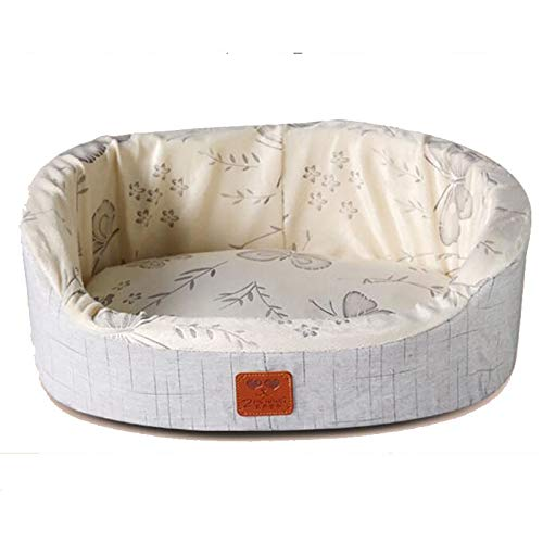 M Yiye Zhiqiu Sponge Super Soft Dog Mat Cotton Summer Cooling Kennel Fashion Washable Oval Pet Dog Cat Bed (Size   M)