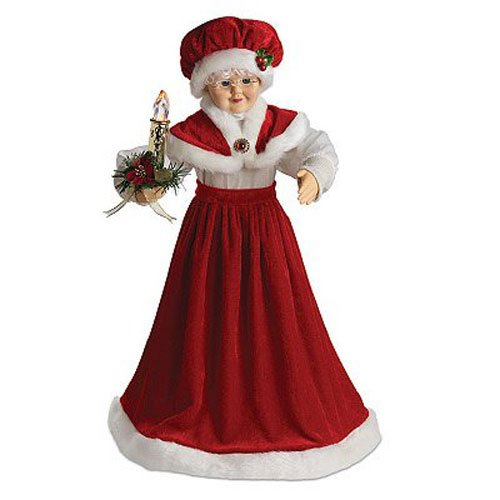 4 seasons global hyx1324021 mrs santacandle 24 - Animated Christmas Decorations