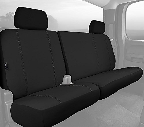 - Fia SP82-94 BLACK Custom Fit Rear Seat Cover Split Seat 60/40 - Poly-Cotton, (Black)