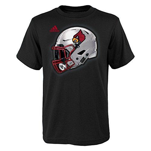 NCAA Louisville Cardinals Youth Boys 2017 Helmet Short Sleeve Tee, M(10-12), ()