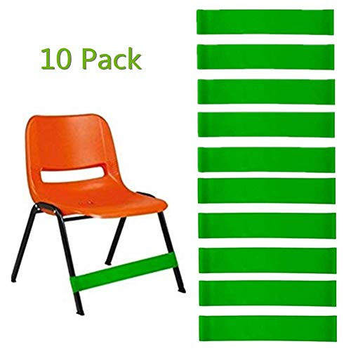Natural Latex Stretch Chair Fidget Bands Stretch Foot Bands ADHD ADD SPD Autism Sensory Needs Workout for Classroom and Home 10 Pcs (Green-10pcs)