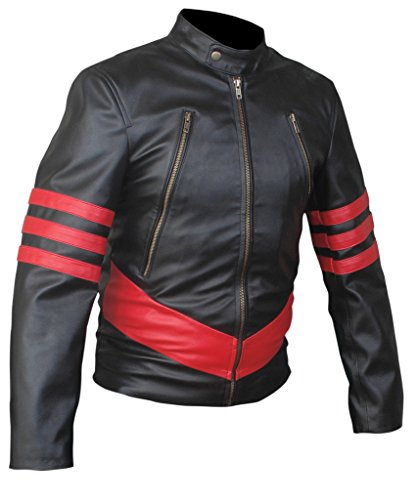 F&H Men's X-Men Origins Wolverine Genuine Leather Jacket 5XL Black