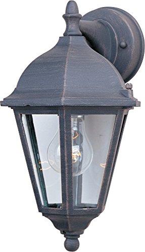 Maxim Lighting 1000RP One Light Glass Wall Lantern, Rust Patina