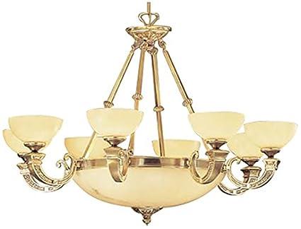 Classic Lighting 5629 ABZ Mallorca, Alabaster, Chandelier, Antique Bronze - Classic Lighting 5629 ABZ Mallorca, Alabaster, Chandelier, Antique