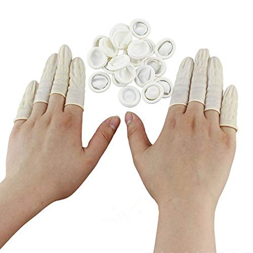 200pcs Disposable Latex Finger Cots, Anti-Static Rubber Fingertips Protective Finger Gloves Art Latex Tissue Finger Cot for Electronic Repair Painting