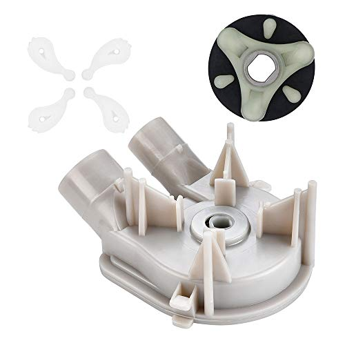 3363394&285753A&80040(4 pack) Washer Drain Pump&Washer Motor Coupler& Washer Agitator Dogs Coupling Kit by AMI PARTS-Compatible with Whirlpool Kenmore