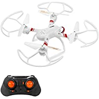 Mini RC Helicopter, Mould King Super-F Remote Control Quadcopter Drone 4CH 2.4GHz 6-Axis Mini Drone RTF with Headless Mode LED Flashing (White)