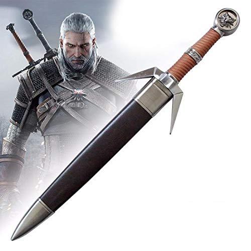 RealFireNSteel Witcher 3: Wild Hunt - Geralt's Silver Sword (Dagger Miniature)