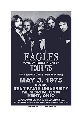 - Raw Sugar Art Studio Eagles 1975 Kent State Concert Poster