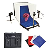 Polaroid Table Top Portable Photo Studio Light Tent Kit, Includes 1 Tent, 2 Lights, 1 Tripod Stand, 1 Carrying Caes, 4 Backdrops (Black, Blue, White, Red) For The Pentax Q, Q10, X-5, K-01, K-30, K-X, K-7, K-5, K-5 II, K-R, 645D, K20D, K200D, K2000, K10D, K2000, K1000, K100D Super, K110D, *ist D, *ist DL, *ist DS, *ist DS2 Digital SLR Cameras