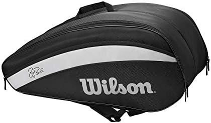 Wilson RF Team 12 Pack Racquet Bag (Black/White)