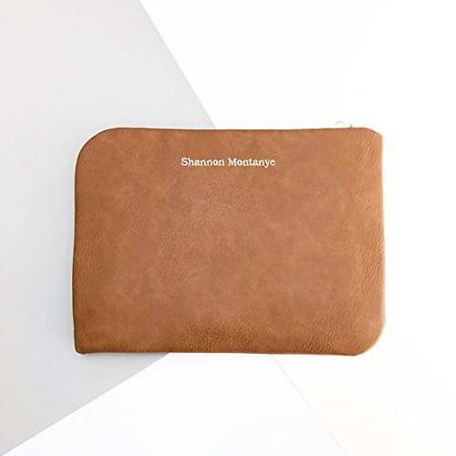 reputable site 6b954 b5e5e Amazon.com: Faux Leather Laptop Case, Laptop Sleeve, Faux Leather ...
