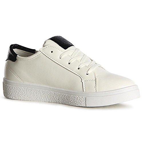 Chaussures Topschuhe24 Noir Sneaker Femmes De Sport F6RBTq