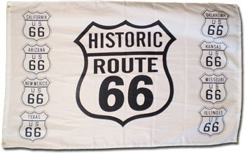 Route 66  - 3' x 5' Polyester Novelty Flag