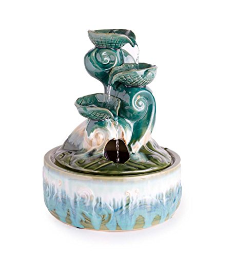 - Wind & Weather Ceramic Seashell Indoor Fountain - 11.25 L x 11.25 W x 15.25 H