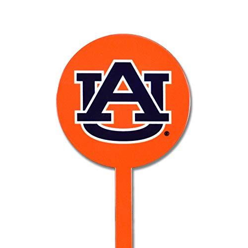 NCAA Auburn Tigers Garden Decor - Decorative Metal Yard Stake, Indoor/Outdoor, Orange