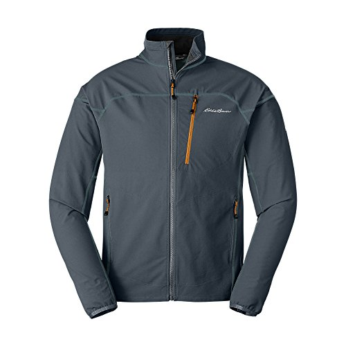 Eddie Bauer Men's Sandstone Soft Shell Jacket, Storm Regular S by Eddie Bauer