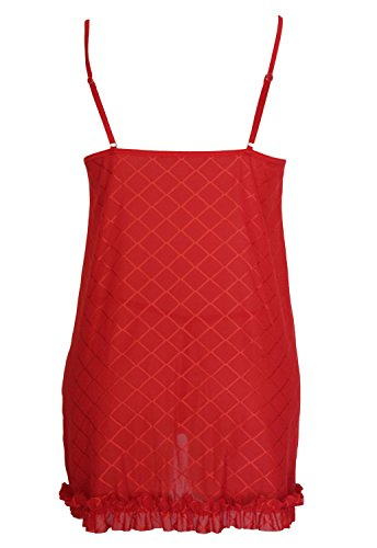 [Beatifully Qearl womens Christmas 3pcs Sexy Short Babydoll Open Front Mrs.Claus Costume Red one] (Mrs Claus Costume Makeup)