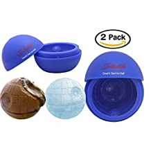 2 Pack Silicone Mold Ice Cube Tray Ball Whiskey Baking Chocolate Soap For Star Wars Lovers or Party Theme