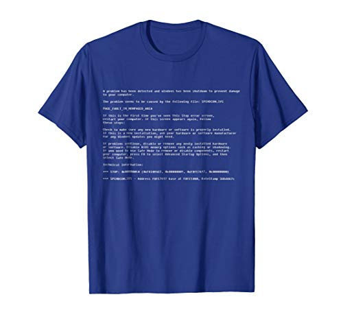Blue Screen of Death - Funny Computer T-Shirt Gift -