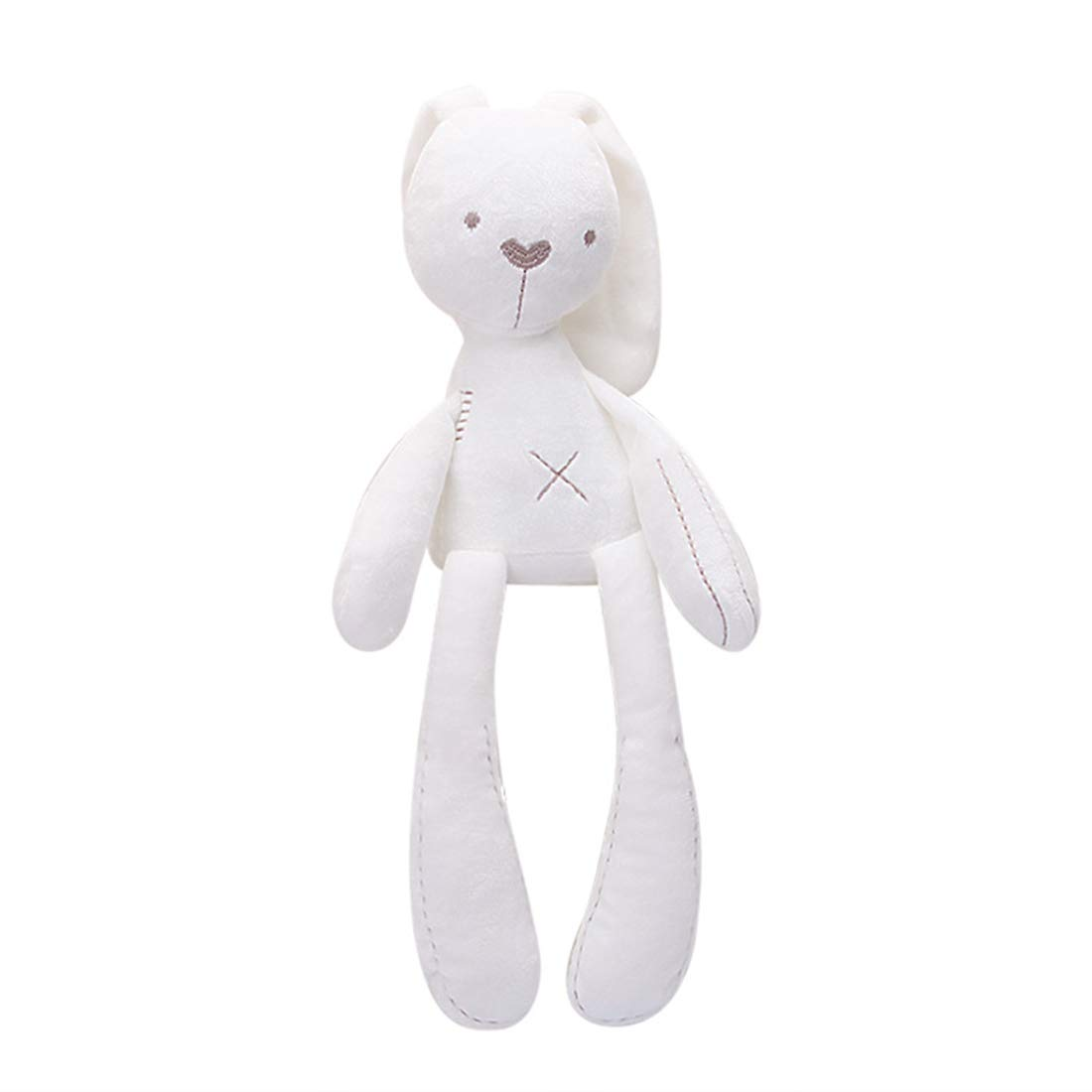 GOOC Kids First Stuffed Animal 15.7 inch | Baby Toys 6 to 12 Months | Soft Snuggle Bunny Baby Toys (Bunny White) by GOOC