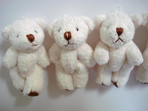 Wholesale Mulberry (Wholesale 100pcs Leather Sole Craft Mini Plush Teddy Bear Doll 4cm (H139-White) US Seller Ship Fast)