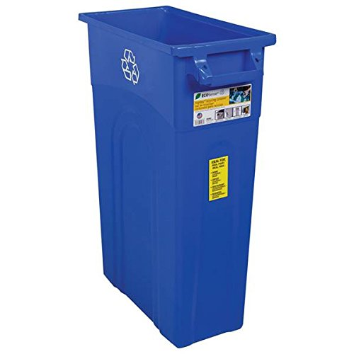 United Solutions TI0033 Highboy Waste Container In Recycling Blue (2 Pack, Recycle-Blue) by United Solutions