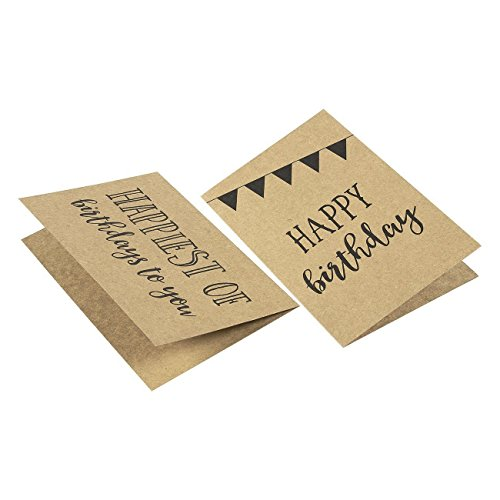 36 Pack Assorted All Occasion Kraft Greeting Cards - Includes Assorted Happy Birthday, Congratulations, Sympathy, Thank You Cards - Bulk Box Set Variety Pack with Envelopes Included - 4 x 6 inches by Best Paper Greetings (Image #6)